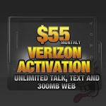 $55.00 Per Month talk, text and 2GB Web