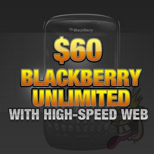 $60 Blackberry Unlimited with High Speed Web