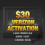 Verizon Activation: $30.00 per month