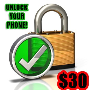 Unlock Phone: $30.00 INDIVIDUAL CHARGE FOR AT&T / T-MOBILE